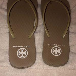 Tory Burch Shoes - Tory Burch Logo Flip Flops